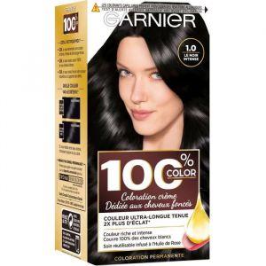GARNIER 100% Brun Coloration Permanente Noir Intense