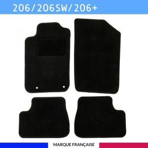 Tapis de voiture - Sur Mesure pour 206 / 206 SW / 206+ (1998 - 2013) - 4 pièces - Tapis de sol antidérapant pour automobile