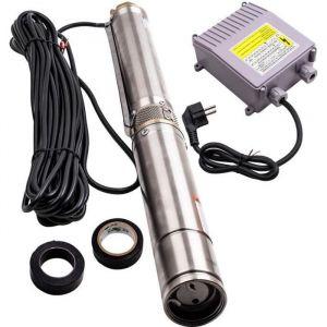 Pompe à eau immergée pour puits profond ou forage 3800L-H 370 W +20 mètres de câble