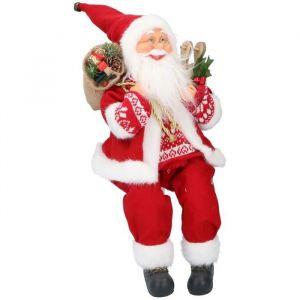 Figurine Père Noël - 46 cm - Rouge