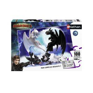 RAVENSBURGER Puzzle 100 p - Krokmou en famille / Dragons 3