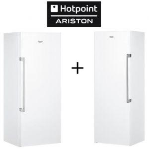 Pack HOTPOINT-ZHS6 1Q XRD-Réfrigérateur 1 porte-323L-Froid brassé-A+-Silver + UH6 1T W - Congélateur armoire - 232 L