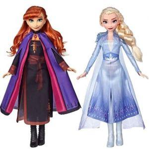 Disney La Reine des Neiges 2 - Lot de 2 Poupées mannequin Elsa et Anna - 27 cm