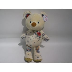 NICOTOY Peluche Tattoo ours - 60 cm - Beige