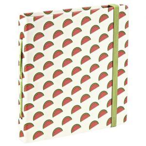 HAMA 00002390 Pochette Melon - 56P - Format 5,4x8,6 max - HAMA 00002390 Pochette Melon - 56P - Format 5,4x8,6 max - Pages intérieures en papier kraft - Motif melons