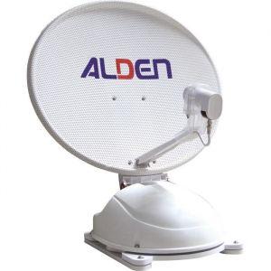 ALDEN Antenne Satellite Automatique AS2 80 Démodulateur Satmatic-HD Fransat - Parabole : 80 cm - Motorisation fiable - Aide au pointage satellite - Dépassement sur toit : 20 cm