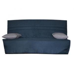 OPS 100% FRANCAIS - GALA Banquette Clic clac - Tissu Bleu - Couchage quotidien - L190 x P95 x H98 cm