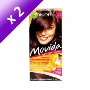 GARNIER Movida Coloration crème ton sur ton auburn n°40 (Lot de 2)