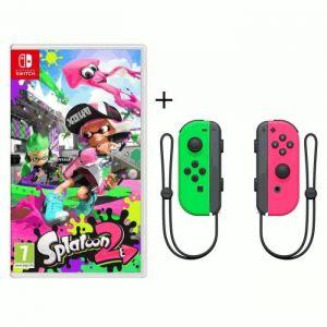 Splatoon 2 Jeu Switch + Paire de Joy-Cons Rose et Vert Néon