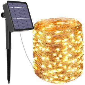 GUIRLANDE LUMINEUSE Guirlande Lumineuse Solaire,  26M 240 LED Exterieur &Eacutetanche Lampe Solaire pour Jardin, Terrasse, Cou403