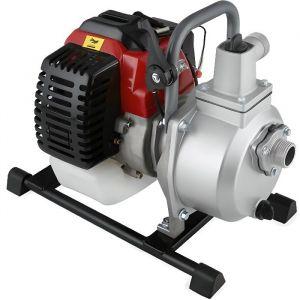 EBERTH 1- Pompe à eau thermique (12.500 l/h, 2 CV Moteur à essence, 17,5m Hauteur de refoulement, 7m Hauteur d'aspiration)