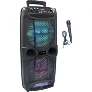 INOVALLEY KA20 Enceinte karaoké lumineuse bluetooth - 800W - Port USB/Micro SD/AUX-IN/DC