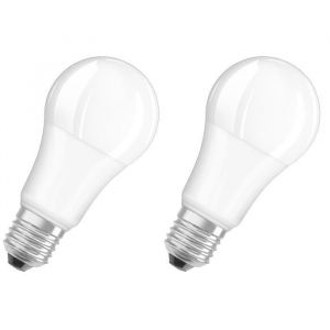 OSRAM Lot de 2 Ampoules LED E27 standard dépolie 14,5 W équivalent à 100 W blanc chaud dimmable