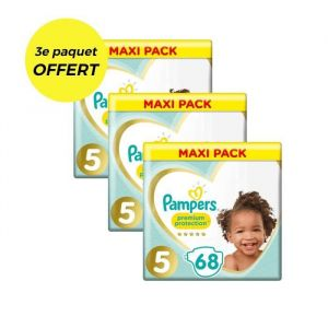 PAMPERS Premium Protection Taille 5 - 207 couches - Lot de 3 Mega Pack