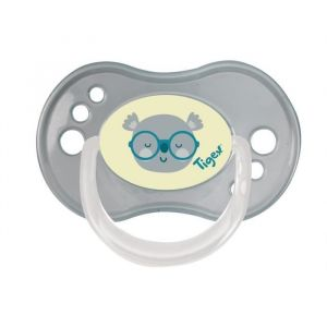 TIGEX 3 Sucettes Jour / Nuit  REVERSIBLE Silicone 6-18m  Fille