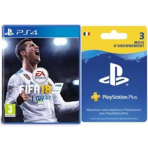 FIFA 18 + Abonnement PlayStation Plus 3 mois