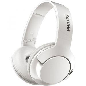 PHILIPS SHB3175WT/00 Casque Bluetooth avec technologie BASS+ - 12 heures d'autonomie - Blanc