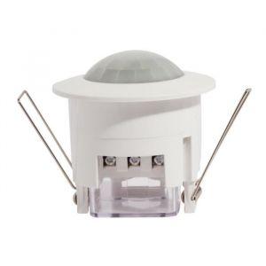 CHACON Détecteur de mouvement encastré - Plage de détection de 360° - Durée ajustable entre 10s et 7min - Commande de luminosité ajustable.