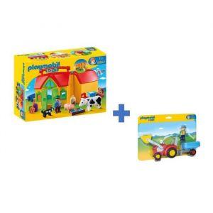 PLAYMOBIL 123 - Pack La Ferme  - Lot de 2 Boîtes