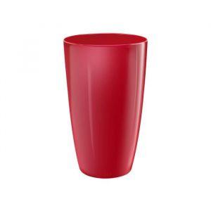 ELHO Pot de fleurs Brussels 40 - Diamond rond et haut - Beau rouge - Intérieur - Ø 39 x H 71,5 cm