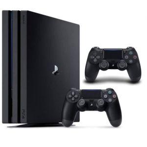 Pack PS4 Pro 1 To Noire + 2e manette DualShock 4 Noire V2