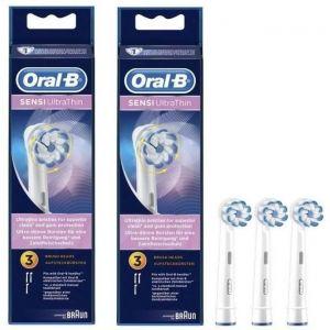 PACK: 2 x Oral-B Sensi Ultrathin Brossettes De Rechange Pour Brosse à Dents Électrique x3