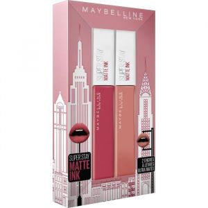 GEMEY MAYBELLINE Coffret Encre à lèvres Superstay Matte 65 Seductress + Superstay Matte 80 Ruler