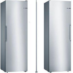 Pack froid BOSCH - KSV36VL3P - Réfrigérateur 1 porte - 346 L  / GSN36VL3P - Congélateur armoire - 242 L + KSZ39AL00 - Kit liaison