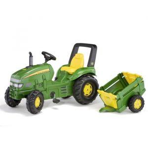 ROLLY TOYS Tracteur à pédales John Deere + remorque - Tracteur X Trac John Deere + Remorque Farm Trailer - Garçon - A partir de 3 ans - Livré à l'unité.
