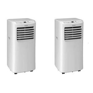 OCEANIC Pack de 2 climatiseurs mobiles 2100 watts - 7000 BTU - Programmable - Classe énergétique A