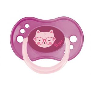 TIGEX 3 Sucettes Jour / Nuit  REVERSIBLE Silicone 18-36m  Fille