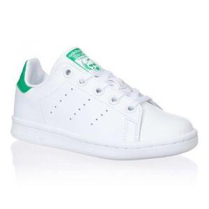 ADIDAS ORIGINALS Baskets Stan Smith - Junior - Blanc et vert