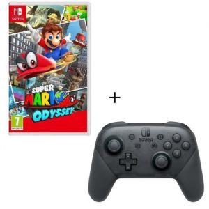 Super Mario Odyssey Jeu Switch + Manette Pro