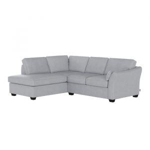 RODIER INTERIEURS Canapé d'angle gauche 5 places LEOPOLD - Tissu gris - Classique - L 250 x P 200 cm