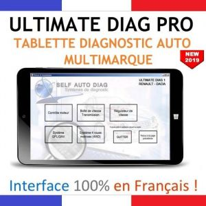 Valise diagnostic auto multimarque complète ULTIMATE DIAG PRO