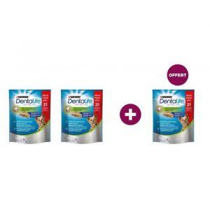 Lot de 2 paquets Purina Dentalife Extra Mini Bâtonnets à mâcher - Pour chien de très petite taille - 207 g + 1 paquet offert