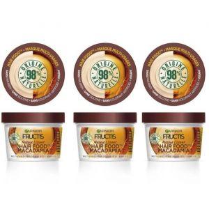 GARNIER Fructis Masque Lissant Hair Food Macadamia - 390 ml x3