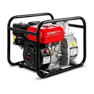 EBERTH 2- Pompe à eau thermique (30.000 l/h, 5,5 CV Moteur à essence, 30m Hauteur de refoulement, 7m Hauteur d'aspiration)