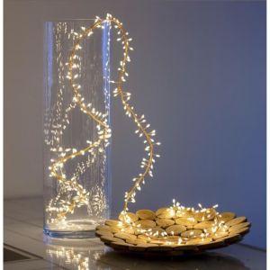 LOTTI Guirlande lumineuse grappe - 300 micro-LED MiniCluster Ø5 cm - Blanc chaud - 2,5 m - LOTTI Guirlande lumineuse 2,5m - 300micro-LED Minicluster - Blanc chaud - LED haute luminosité - Lumi fixe