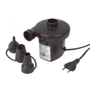 TRIGANO Gonfleur Electrique 220V - Gonfleur électrique rechargeable 12V/220V - Branchement sur secteur ou allume-cigare - Vendu avec 3 embouts.