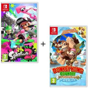 Pack 2 jeux Switch : Splatoon 2 + Donkey Kong Country : Tropical Freeze