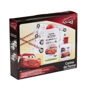 Corine De Farme | Cars Coffret Cadeau | Disney| Parfum Enfant 50ml | Gel Douche Enfant 250ml | Coloriage Enfant | Crayons de couleur
