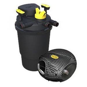 LAGUNA Kit de filtration Clearflo 10000 pour bassin - Avec filtre UV 18 W - Dimensions : 52,5 x Ø 36,5 cm - Système de nettoyage breveté - Colonne d'eau max : 3,5 m - Pompe : 100 W