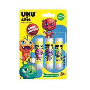 UHU Collector DRAGONS Lot 3 Sticks Blancs 8,2g - Bâton de colle (Lot de 3)