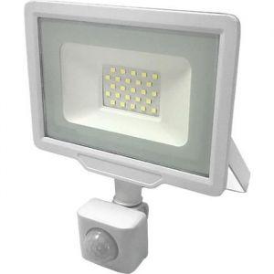 Projecteur LED Extérieur 20W IP65 BLANC avec Détecteur de Mouvement Crépusculaire - Blanc Froid 6000K - 8000K -  SILUMEN