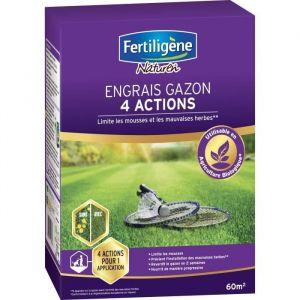 FERTILIGENE Engrais Gazon 4 Actions - 2,45 kg
