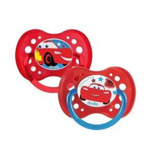 DODIE 2 Sucettes anatomiques Duo A69 - 18 mois+ - Disney Cars (Lot de 2)
