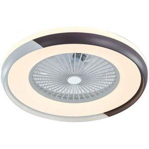 Ventilateur de Plafond, Ventilateur plafonnier avec lampe LED intégré, silencieux, lampe invisible, lumière dimmable et télécommande