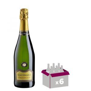 SANT ORSOLA Prosseco Vin d'Italie - Blanc - 75 cl x 6 - Vin d'Italie  Sant Orsola  Prosseco x 6