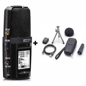 Zoom H2n Enregisteur numérique 4 pistes (2 stéréo) + Zoom APH-2N Pack d'accessoires pour H2n